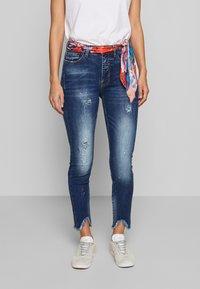 Desigual - RAINBOW - Slim fit jeans - denim dark blue - 0