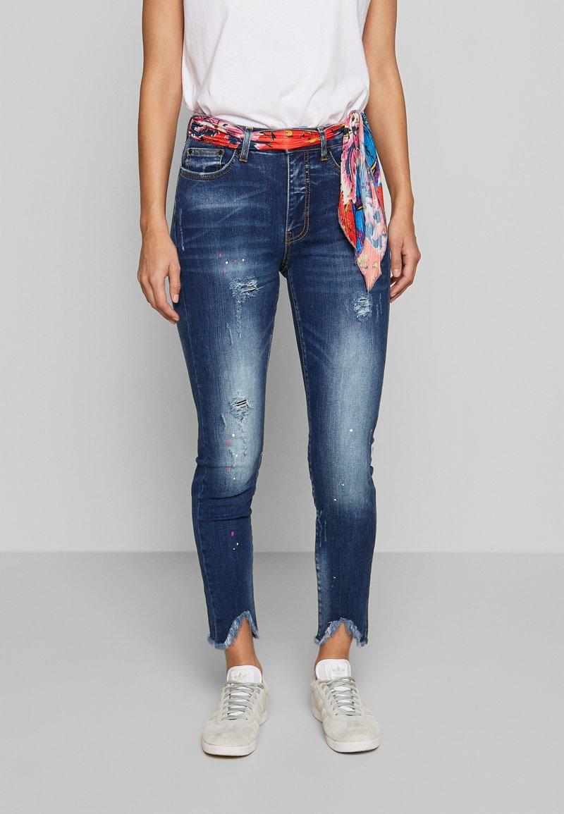 Desigual - RAINBOW - Slim fit jeans - denim dark blue