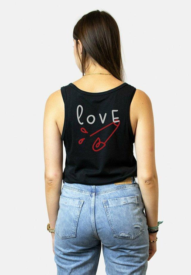 LOVE BACK - Top - black