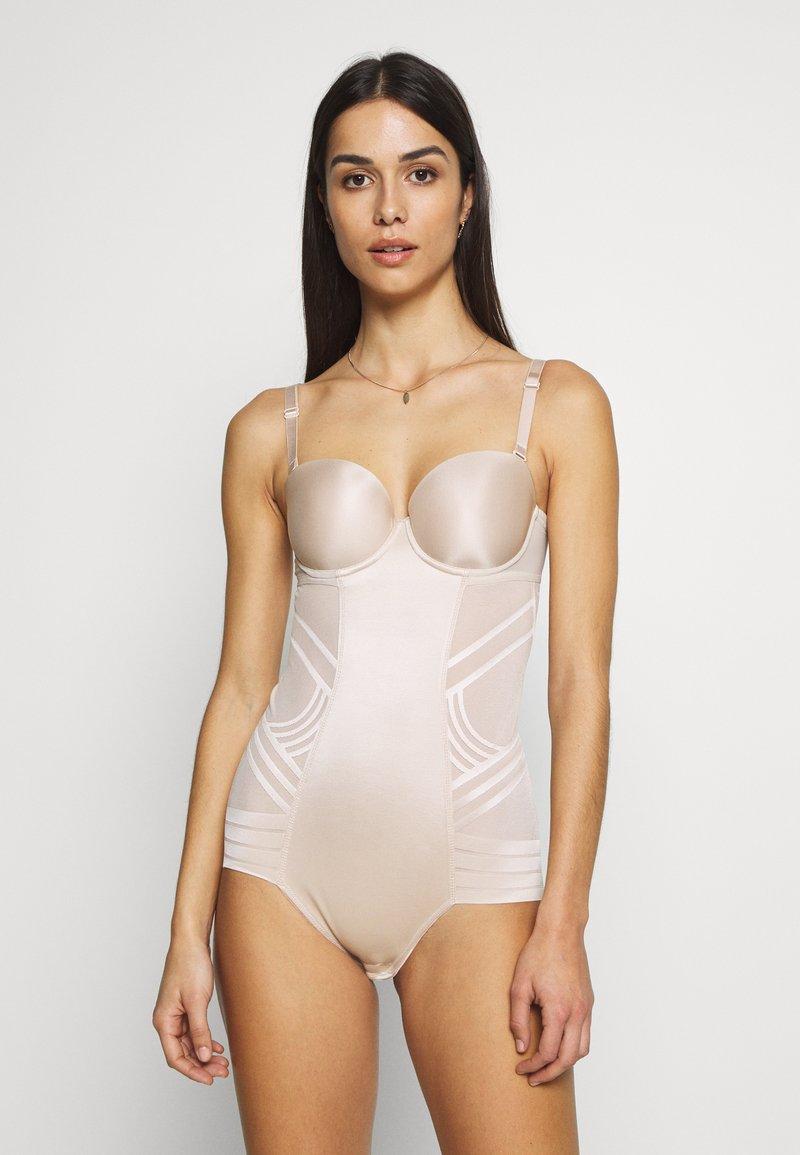 Marks & Spencer London - GEO STRAPLESS - Body - almond
