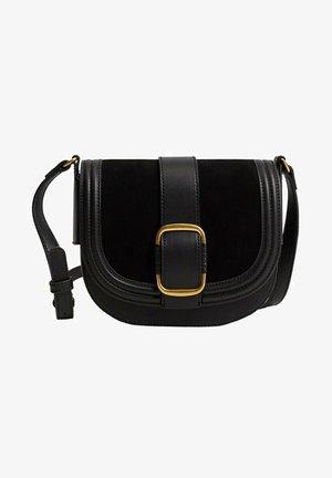 SAC CUIR BOUCLE - Across body bag - noir