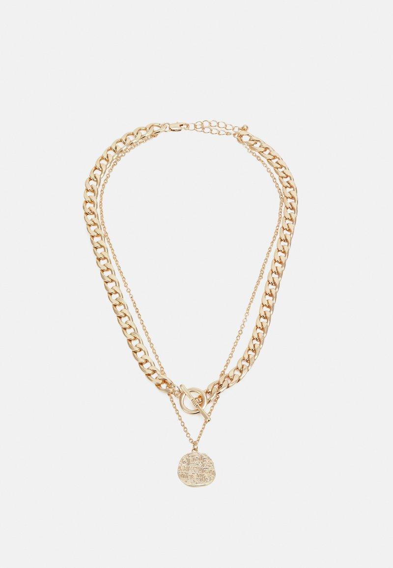Pieces - PCMENDANT COMBI NECKLACE - Smykke - gold-coloured