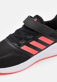 adidas Performance - RUNFALCON UNISEX - Neutral running shoes - core black/signal pink/footwear white - 5