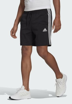 AEROREADY ESSENTIALS 3-STRIPES SHORTS - Korte broeken - black