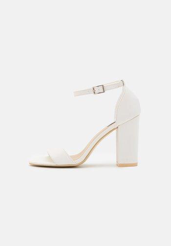 BLOCK  - High heeled sandals - white