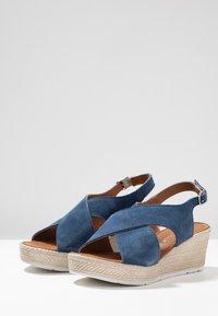 Marco Tozzi - Platform sandals - denim - 4