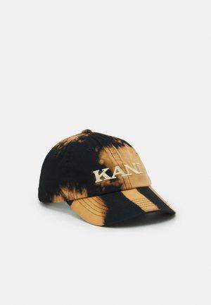 RETRO BLEACH CAP - Lippalakki - black/dark orange