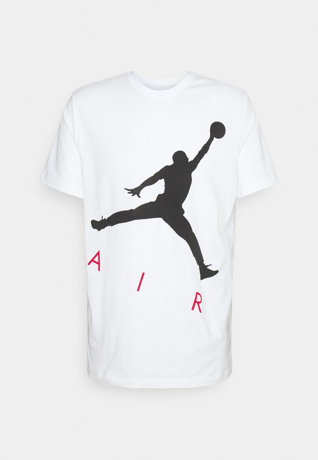 JUMPMAN AIR CREW - Print T-shirt - white/black