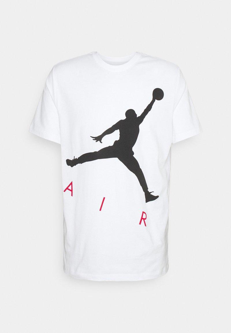 Jordan - JUMPMAN AIR CREW - Print T-shirt - white/black