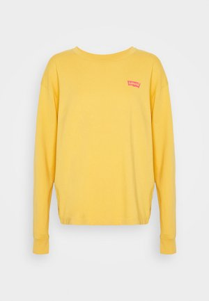 GRAPHIC OVERSIZE TEE - Long sleeved top - dark yellow