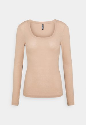 PCPIPPI ONECK - Long sleeved top - warm taupe