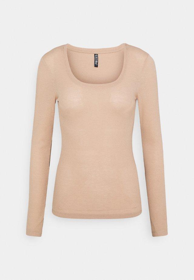 PCPIPPI ONECK - T-shirt à manches longues - warm taupe