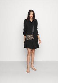 Vila - VIMOROSE SHIRT DRESS - Day dress - black - 1