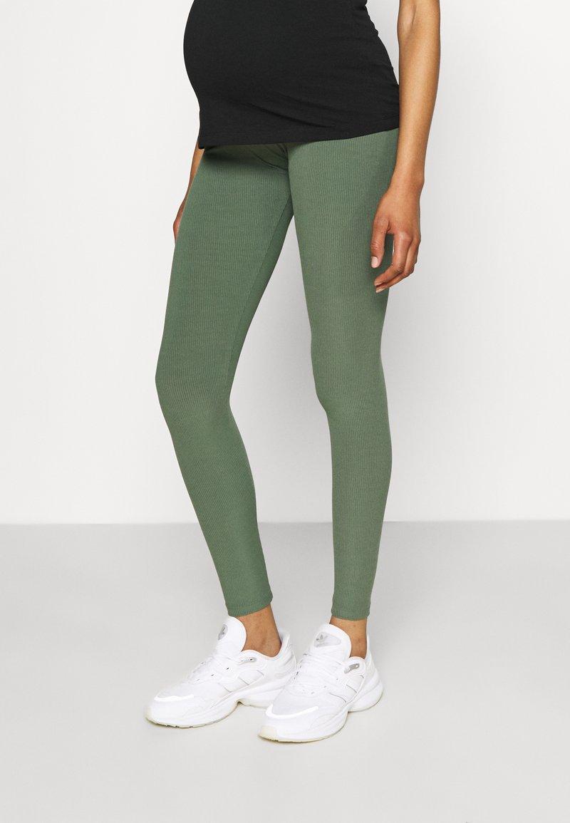 Lindex - MOM LENA - Legginsy - dusty green