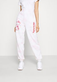 NEW girl ORDER - HELLO BUBBLE TIE DYE - Tracksuit bottoms - pink - 0
