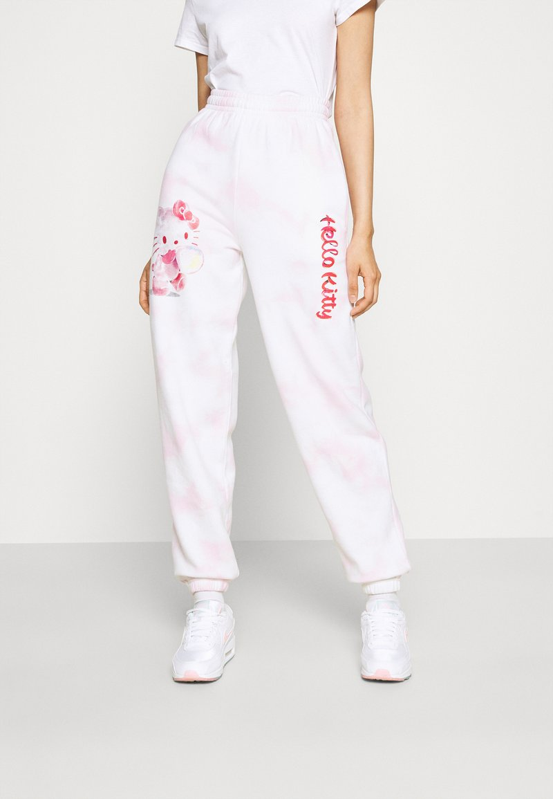 NEW girl ORDER - HELLO BUBBLE TIE DYE - Tracksuit bottoms - pink