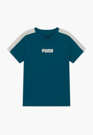 PUMA X ZALANDO LOGO TEE - T-shirt con stampa - morrocan blue