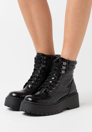 BOBBING  - Bottines à plateau - black