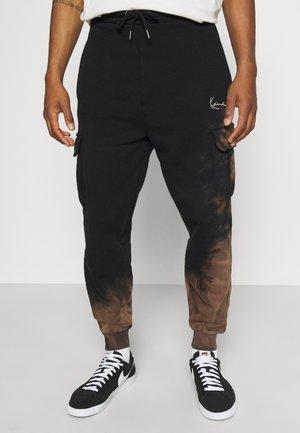 SMALL SIGNATURE BLEACHED UNISEX - Pantalon de survêtement - black