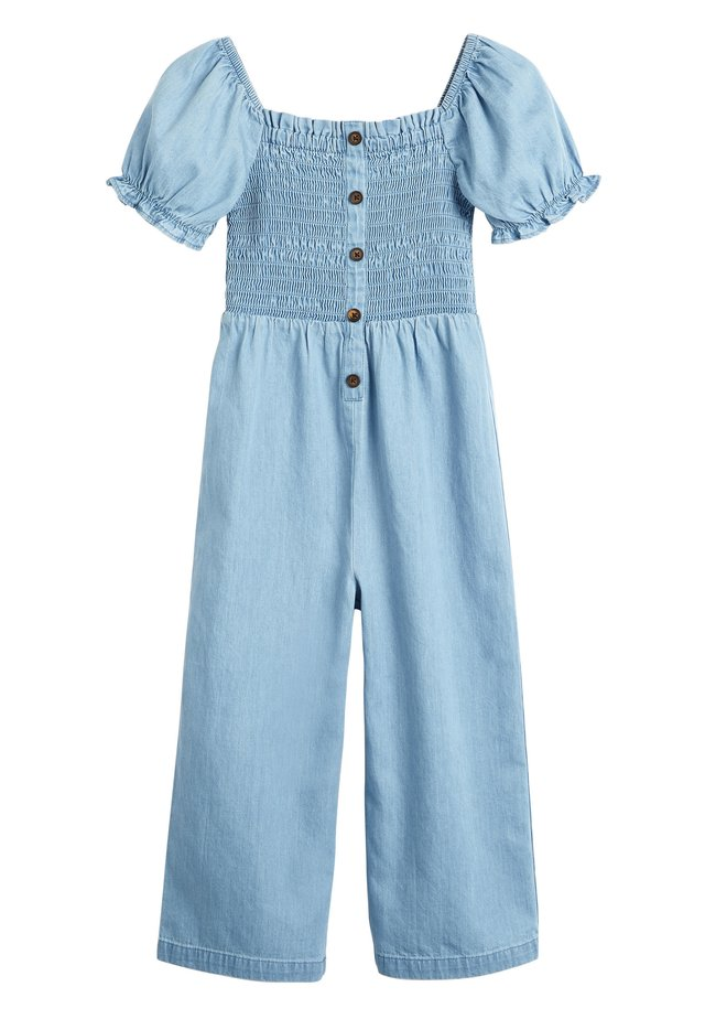 DENIM SHIRRED - Jumpsuit - blue