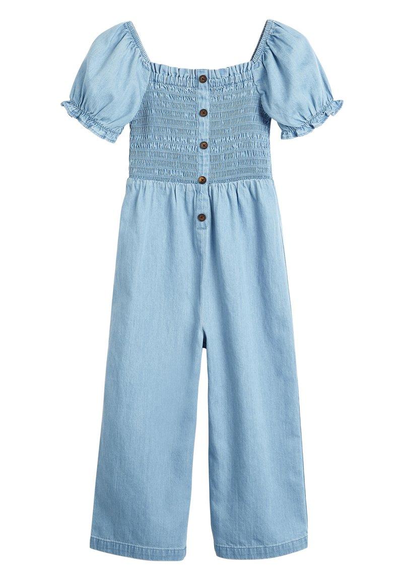 Next - DENIM SHIRRED - Tuta jumpsuit - blue