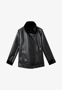 Stradivarius - DOUBLEFACE - Faux leather jacket - black - 4