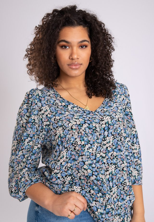 WITH PUFFED SLEEVES - Blouse - multi-color