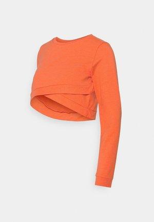 MLJOHANA CROPPED - Sweatshirt - tigerlily/melange