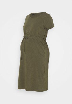 DRESS ORGANIC - Žerzejové šaty - olive night