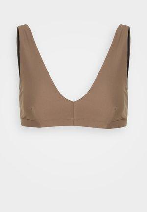 SHINY BRA  - Bikini pezzo sopra - nougat brown