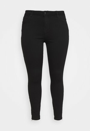 VMTILDE ANKLE ZIP - Jeans Tapered Fit - black denim