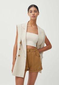 PULL&BEAR - Waistcoat - beige - 0
