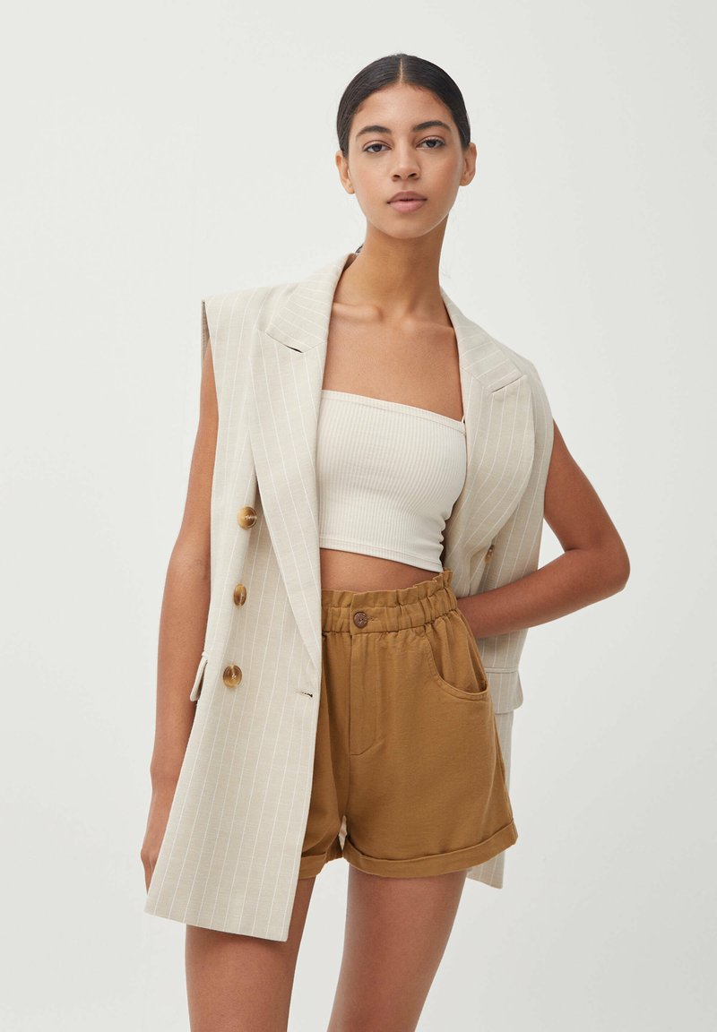 PULL&BEAR - Waistcoat - beige
