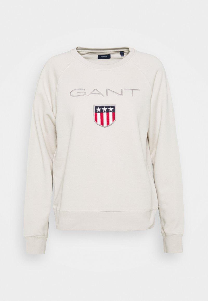 GANT - SHIELD LOGO - Sweatshirt - sand
