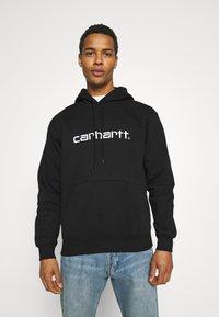 Carhartt WIP - HOODED - Sweatshirt - black/white - 0