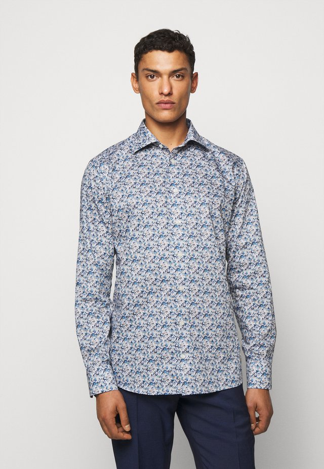 SLIM STAINED GLASS FLORAL - Camicia - blue signature