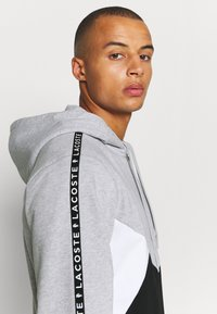 Lacoste Sport - TAPERED - Mikina na zip - gris chine/noir/blanc - 3