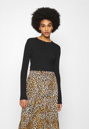 PERFECT CROPPED - Topper langermet - black
