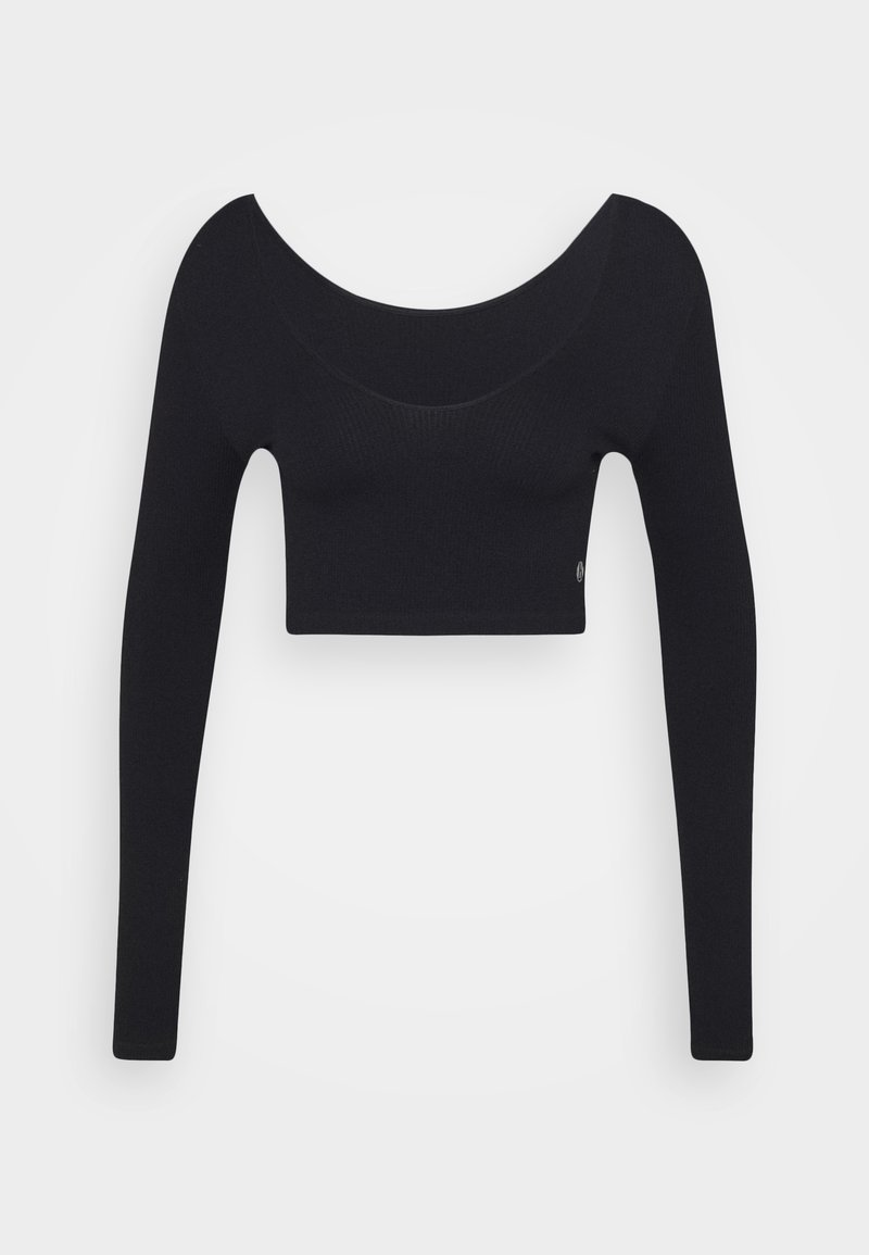 Cotton On Body - LIFESTYLE SEAMLESS LONG SLEEVE CROP - Topper langermet - black