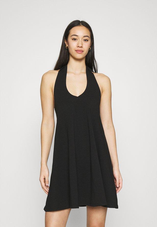 HALTERNECK DRESS - Sukienka z dżerseju - black
