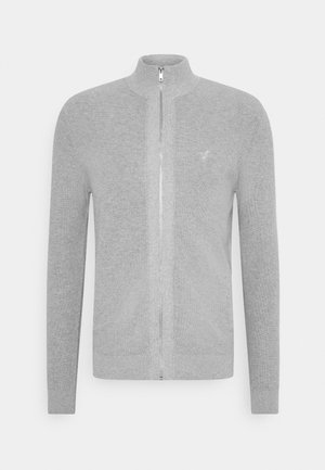 Cardigan - mottled light grey