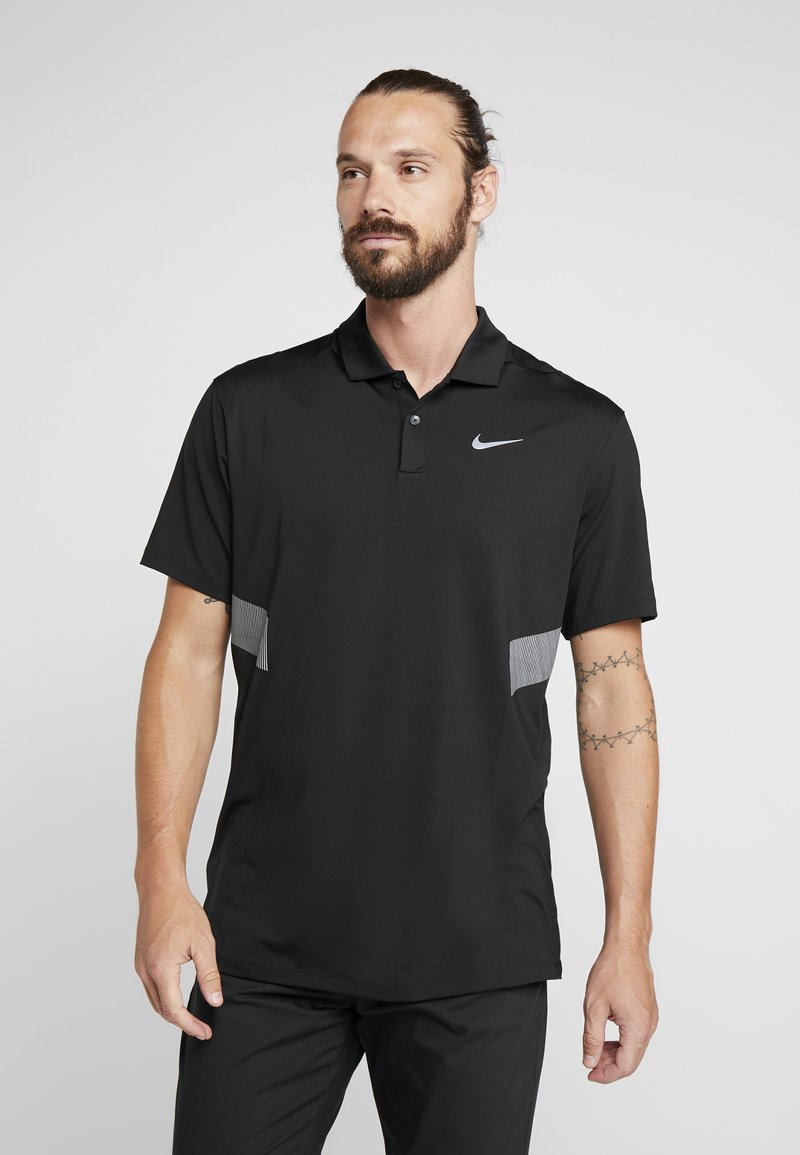 Nike Golf - DRY VAPOR REFLECT - Funktionströja - black/reflective silver