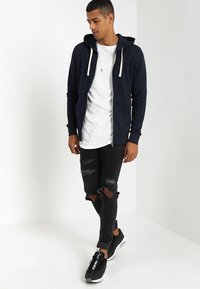 Jack & Jones - JJEHOLMEN - Sweatjacke - navy blazer - 1