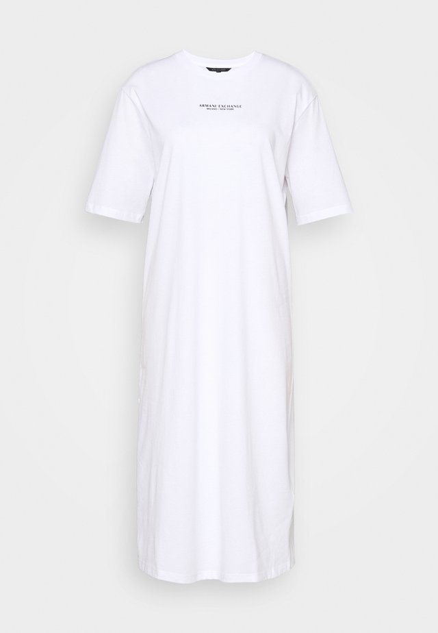 Jersey dress - optic white
