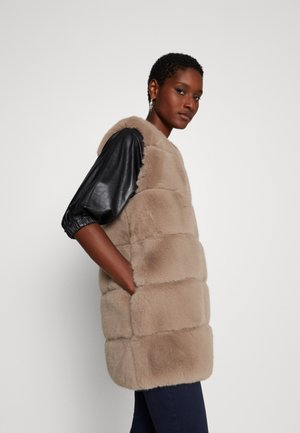 ACT - Waistcoat - taupe
