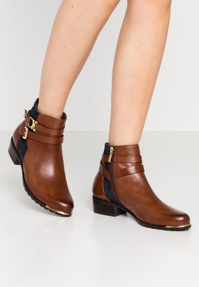 Caprice - Ankle boots - cognac/ocean