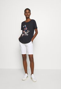Esprit - Print T-shirt - navy - 1
