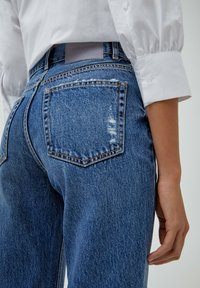 PULL&BEAR - MOM - Relaxed fit jeans - mottled blue - 5