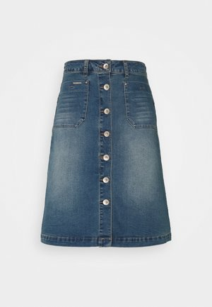 LONE SKIRT - A-line skirt - light blue denim