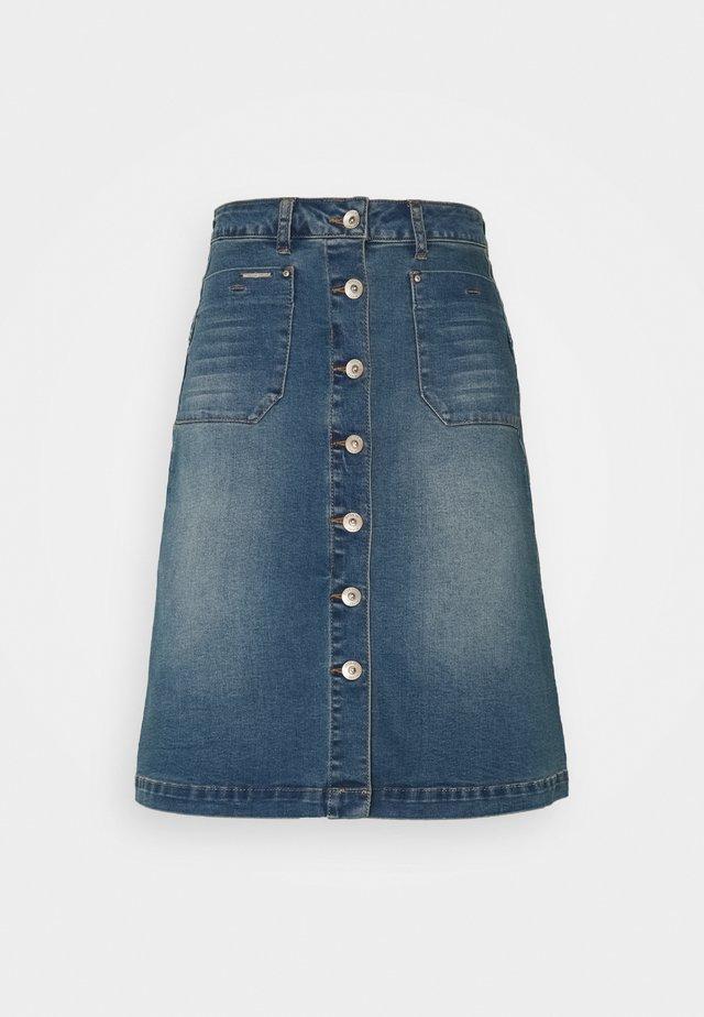 LONE SKIRT - A-snit nederdel/ A-formede nederdele - light blue denim